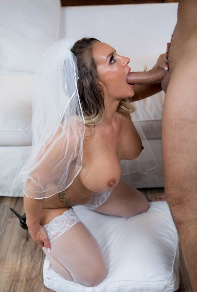 Photo №13 Sexy bride with big ass gets hard anal fucked by groom