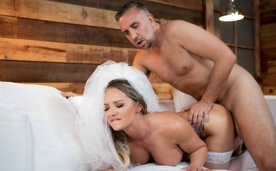 Photo №16 Sexy bride with big ass gets hard anal fucked by groom