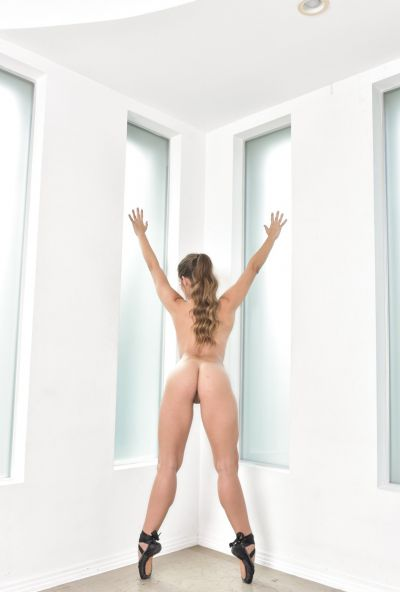 Photo №18 Hot Cassidy Klein posing in sex bodysuit with butt plug