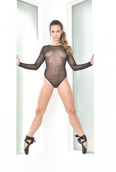 Photo №3 Hot Cassidy Klein posing in sex bodysuit with butt plug
