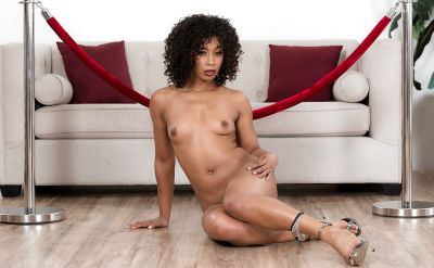 Photo №10 Curly haired brunette Misty Stone stripped naked