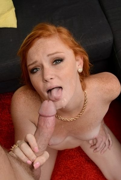 Photo №14 Redhead Alex Tanner skillfully gives blowjob