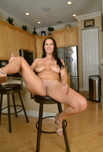 Photo №14 Lustful wife Tiffany Cane strips and spreads her pussy in the kitchen