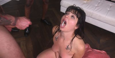 Photo №16 Juicy brunette Siouxsie Q gets pounded hard in all holes by a crowd