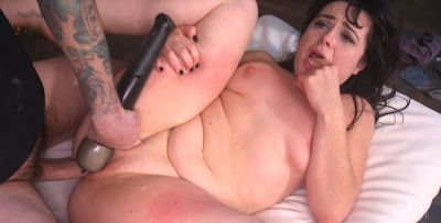 Photo №8 Juicy brunette Siouxsie Q gets pounded hard in all holes by a crowd