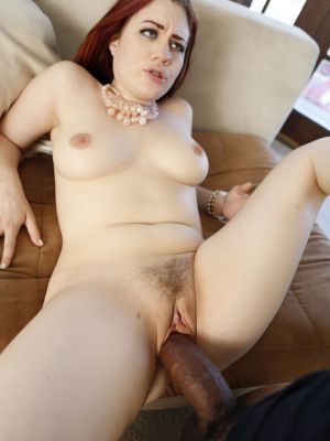 Redhead woman Jessica Ryan gets fucked by thick black guy's cock