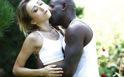 Photo №1 Black guy fucks a beautiful blonde girl in anal