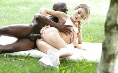 Photo №10 Black guy fucks a beautiful blonde girl in anal