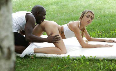 Photo №4 Black guy fucks a beautiful blonde girl in anal