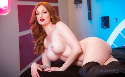 Photo №13 Hot redhead girl Zara DuRose showing big tits and redhead pussy