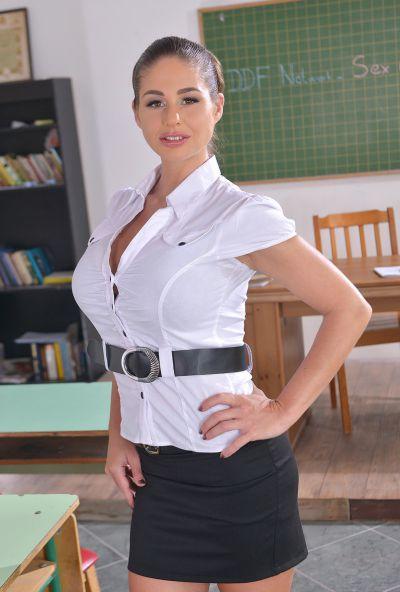 Photo №4 Hot teacher Cathy Heaven fucked a guy with three schoolgirls