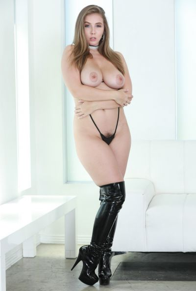 Photo №10 Seductive porn star Lena Paul with a hairy pussy in boots