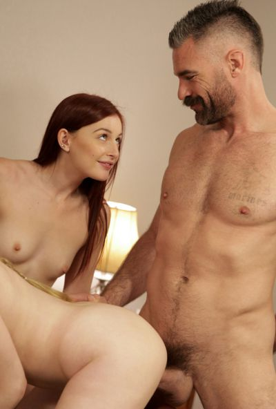 Photo №12 Girlfriend teaches a redhead bride to please her groom in a 3some