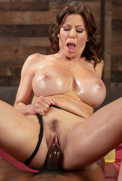 Photo №11 Very sexy MILF in oil Alexis Fawx gets cum in mouth after hard sex with black man