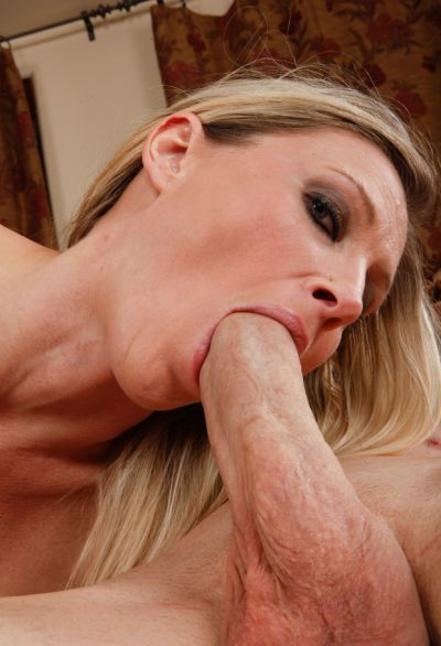 Photo №14 Blonde woman with big tits Devon Lee sucking & riding big cock