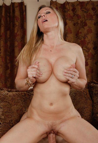 Photo №16 Blonde woman with big tits Devon Lee sucking & riding big cock