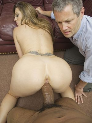 Husband watches black man fucks his mature wife Brooklyn Jade with BBC