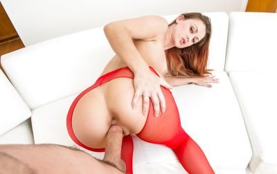 Photo №5 Gorgeous Karlie Montana in red pantyhose has hard sex