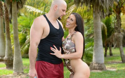 Photo №9 MILF Emily Willis gets fucked by a bald guy and took cum on her tight breasts