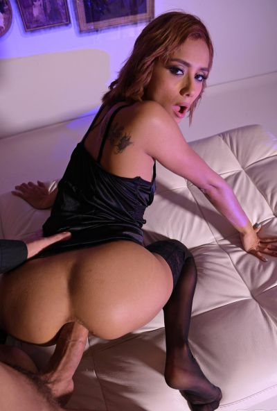 Photo №10 European girl Veronica Leal gets fucked hard in tight anus by fat cock on Halloween