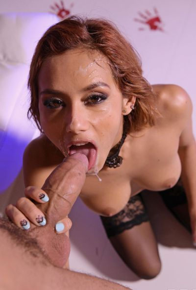 Photo №20 European girl Veronica Leal gets fucked hard in tight anus by fat cock on Halloween