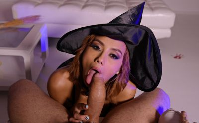 Photo №6 European girl Veronica Leal gets fucked hard in tight anus by fat cock on Halloween