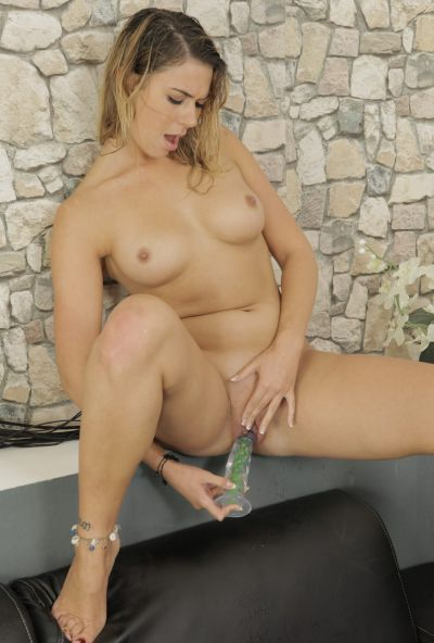 Photo №12 Horny blonde Any Blackfox pees in a bowl and drinks it