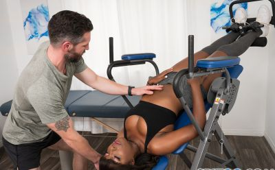 Photo №4 Black girl Daya Knight gets cum on tongue after sex in gym