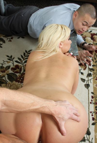 Photo №16 Lover has some fun with fatty sexy blonde Julie Cash in front of her boyfriend