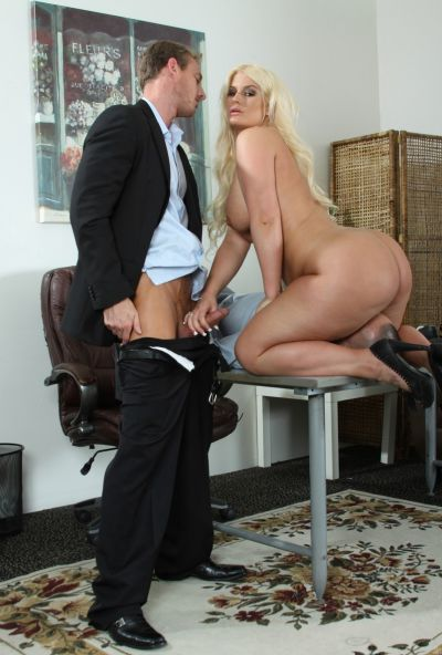 Photo №2 Lover has some fun with fatty sexy blonde Julie Cash in front of her boyfriend