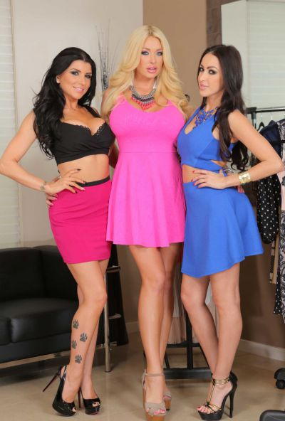 Photo №1 Triple ass from hot MILFs Breanne Benson, Romi Rain and Summer Brielle