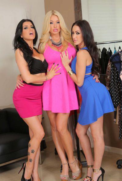 Photo №3 Triple ass from hot MILFs Breanne Benson, Romi Rain and Summer Brielle