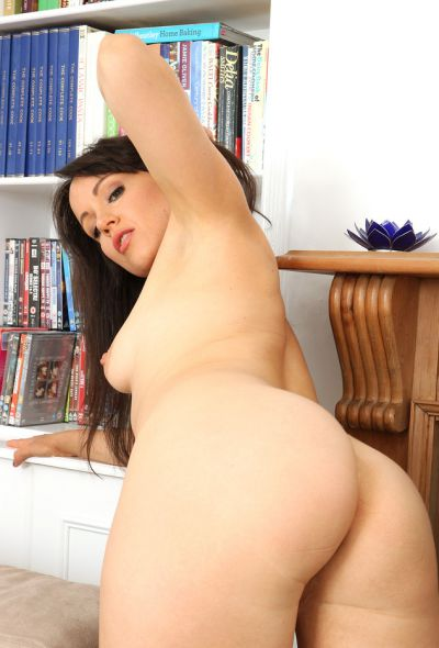 Photo №13 Brunette Lucy Love showed pussy and big ass after stripping
