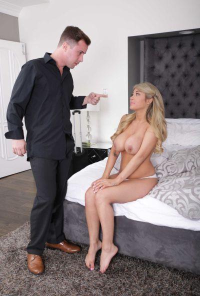 Photo №5 Busty blonde Kayla Kayden gets punished by her husband