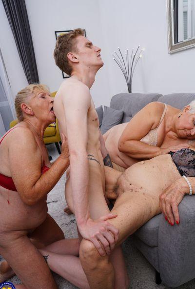 Photo №14 Three grandmas fuck a young male