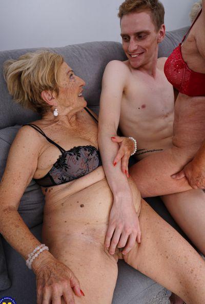 Photo №16 Three grandmas fuck a young male