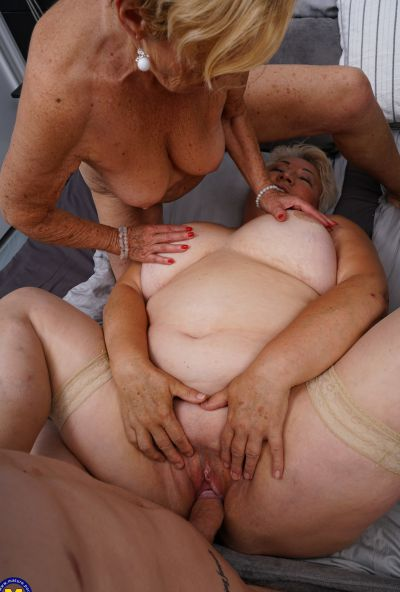 Photo №20 Three grandmas fuck a young male