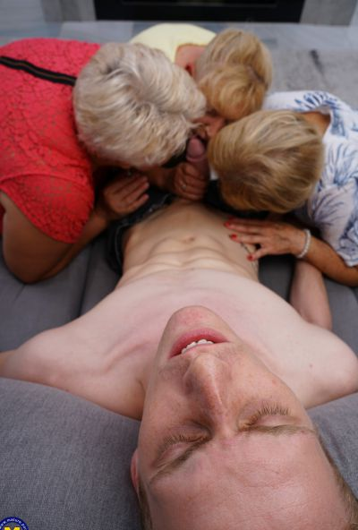 Photo №6 Three grandmas fuck a young male