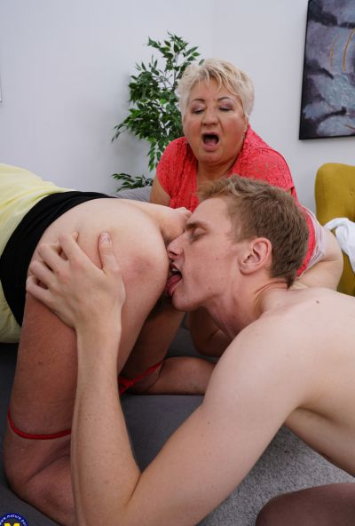 Photo №9 Three grandmas fuck a young male