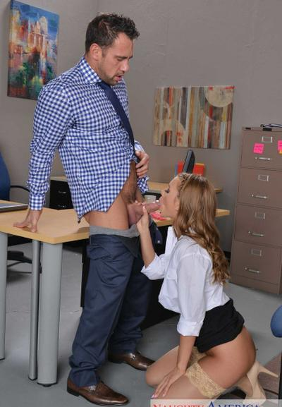 Photo №7 Beauty teen secretary in stockings Jill Kassidy gets licked and fucked in the office