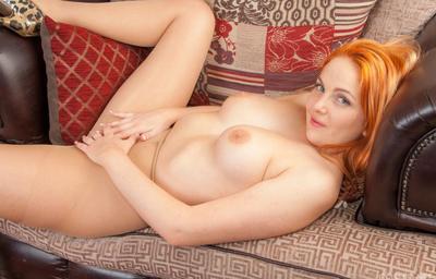 Photo №15 Redhead big titted woman Kara Carter in pantyhose