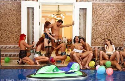 Photo №12 Big wild orgy at the pool party
