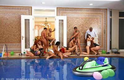 Photo №15 Big wild orgy at the pool party
