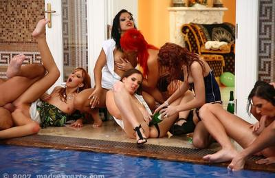 Photo №7 Big wild orgy at the pool party