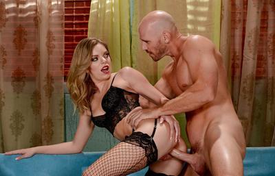 Photo №5 Teen wife in stockings Trisha Parks enjoys hardcore sex with bald guy