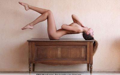 Photo №12 Attractive flexible brunette Sabrisse poses totally nude