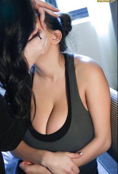 Photo №1 Brunette September Carrino threw out huge boobs
