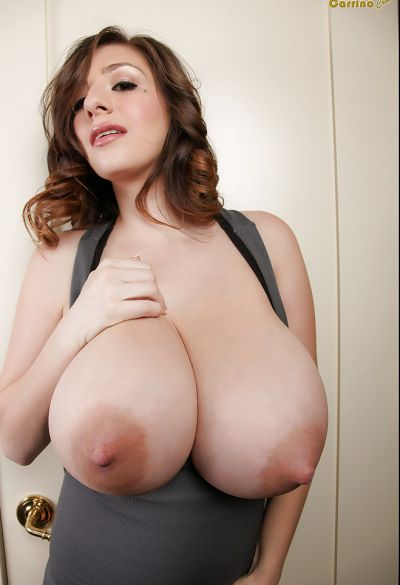 Photo №13 Brunette September Carrino threw out huge boobs