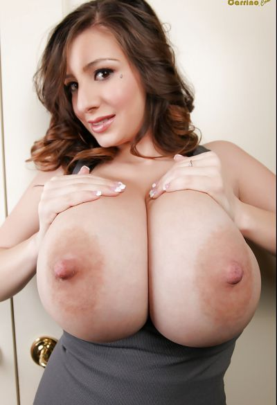 Photo №9 Brunette September Carrino threw out huge boobs