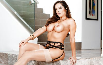 Photo №8 Busty MILF Francesca Le in stockings is preparing for gangbang
